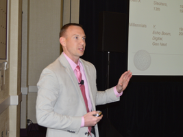 Tyler Koch of CTD Investments presented tips to help motivate millennials in the workplace. This...
