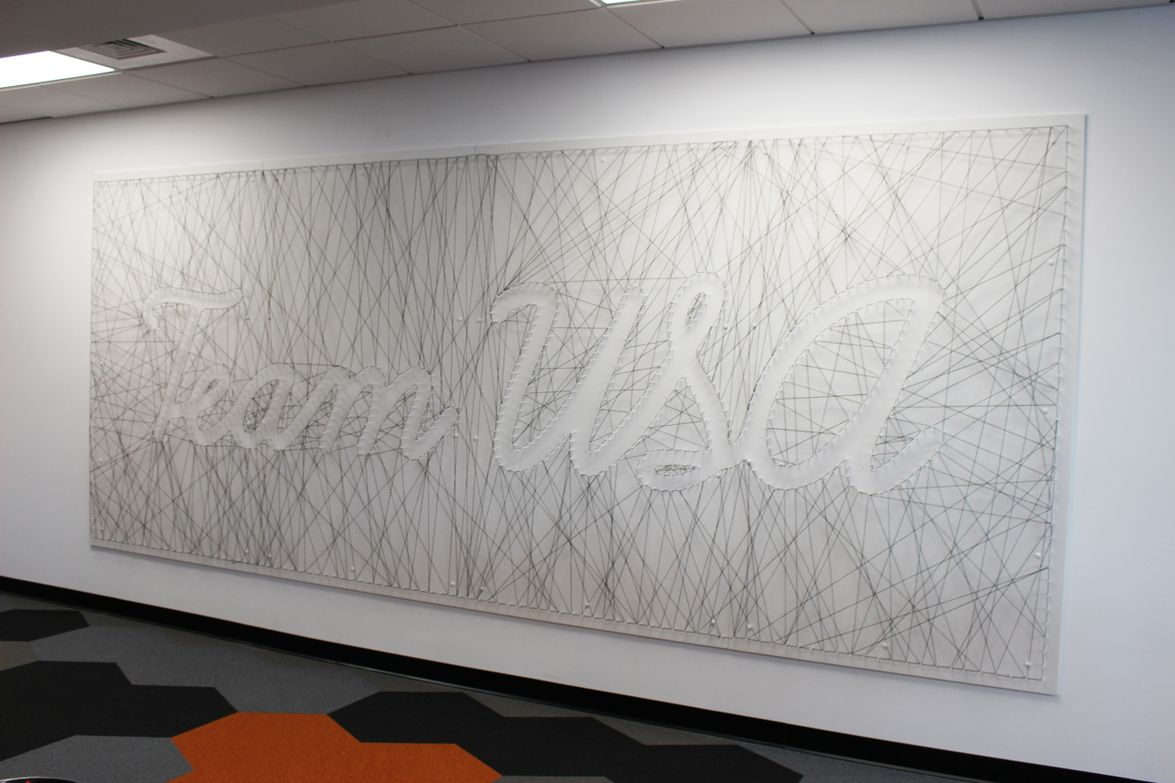 Art featured in Sixt's new corporate headquarters building.