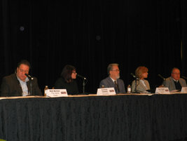 The opening keynote panel featured representatives from the major car rental companies and Fiat...
