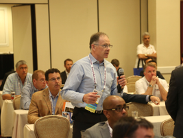 At the end of each session, attendees had the chance to ask questions.