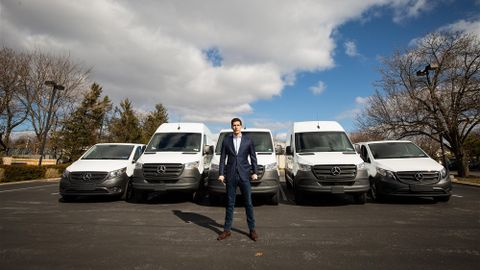 AriRaptis,founderand CEO of Talaria, made his first cannabisdelivery witha single employee...
