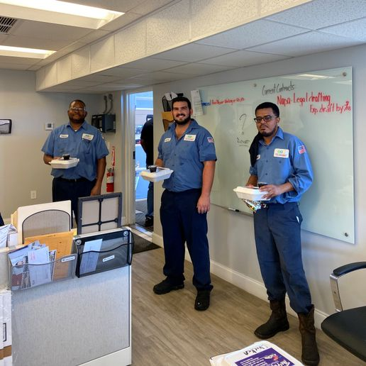 The supervisors chipped in and recently bought lunch for the department. Employees also stepped up to participate in a food drive sponsored by the police athletic league.  - Photo courtesy City of West Palm Beach.