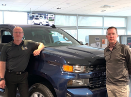 Kevin Sullivan (right) stands with Warren Ford Jr., fleet, government and municipal sales manager. Sullivan is co-owner of O'Neill's Chevrolet Buick, Sullivan's Northwest Hills Chrysler Jeep Dodge Ram, Sullivan Honda, and Northwest Hills Chevrolet, Buick, GMC, Cadillac. The dealerships serve Central Connecticut.