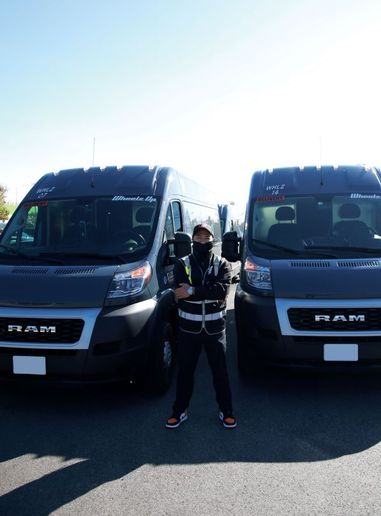 Jeb Lopez, founder and CEO of Wheelz Up, says new Ford Transits and Ram ProMasters are scarce during peak delivery season. There are few discounts, they're harder to spec, and service lanes are clogged with competitors' vans needing repairs. - Photo courtesy of Wheelz Up.