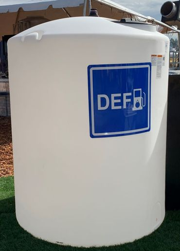 Bulk storage tanks should be dedicated for DEF. Don't switch products in the bulk tank without thoroughly rinsing the tank with distilled or de-ionized water or on-spec DEF. - Photo courtesy of American Petroleum Institute (API).