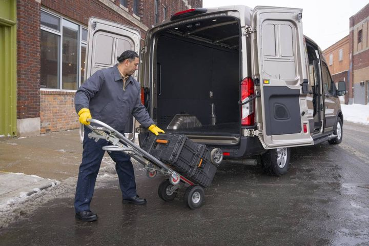 Refer back to the van performance requirements. How will the van be loaded and unloaded? The answer affects what side door option is the best fit. - Photo: Ford