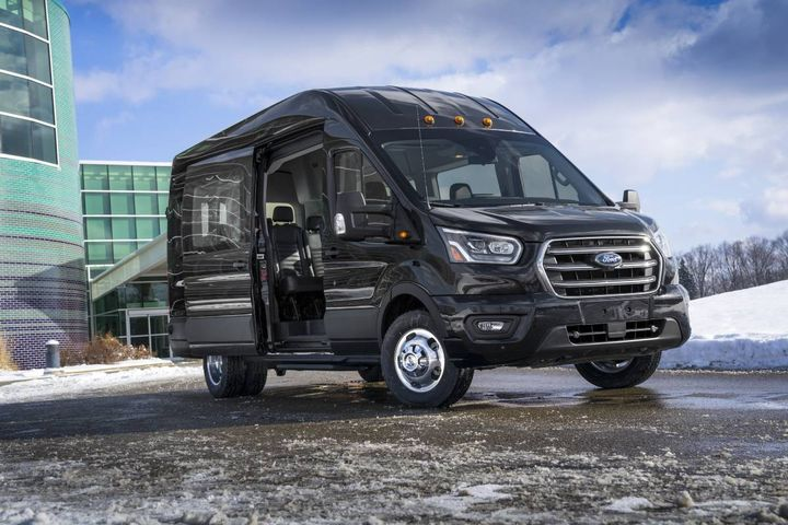 There are many different types of seating and materials for your new van with many color options and schemes available. - Photo: Ford