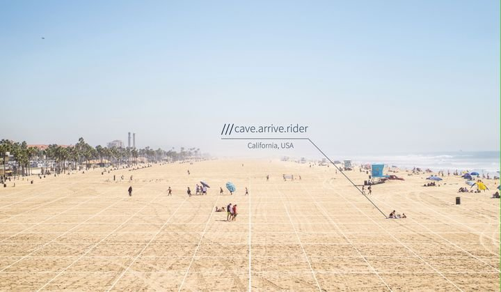 Each three-meter square has a permanent three-word address, allowing goods and people to be moved to precise locations without conventional addresses — from construction sites and loading docks to pop-up businesses and even beaches. - Photo courtesy of what3words.