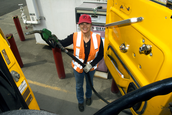 "If a woman says she is intimated about driving big rigs, your response should be, ""We'll not only train you, but we will start you out in our apprentice program.""