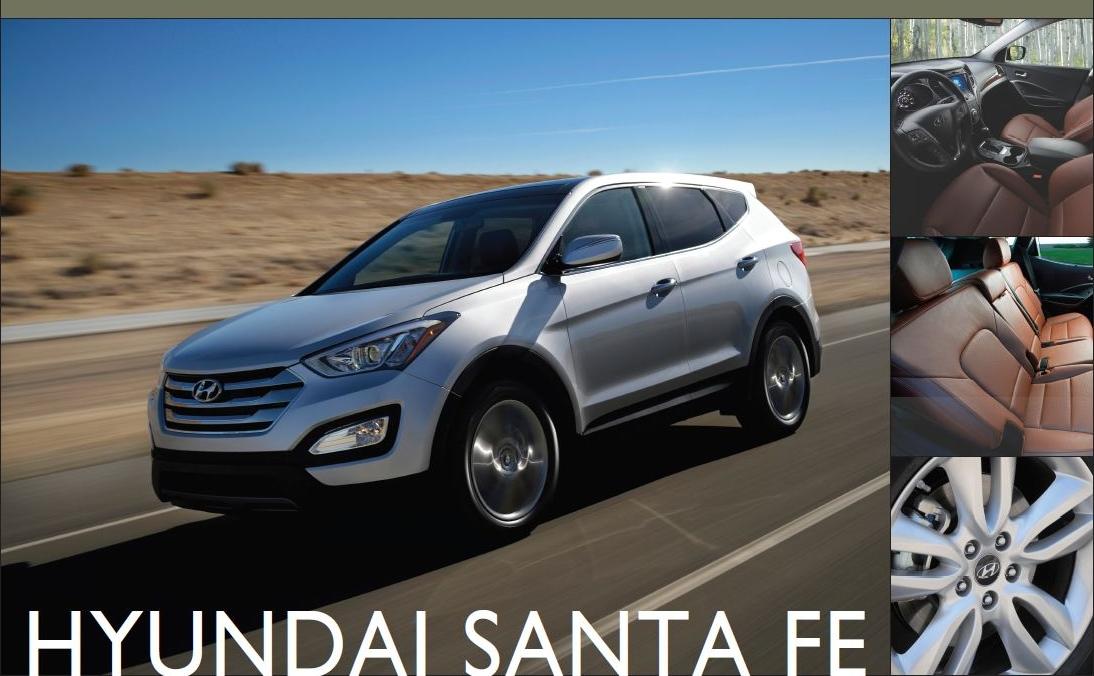 Showroom - 2013 Hyundai Santa Fe: Room for 5, 6 or 7