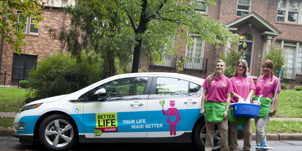 Photos courtesy of Better Life Maids.Better Life Maids recently added two Chevrolet Volts to its...