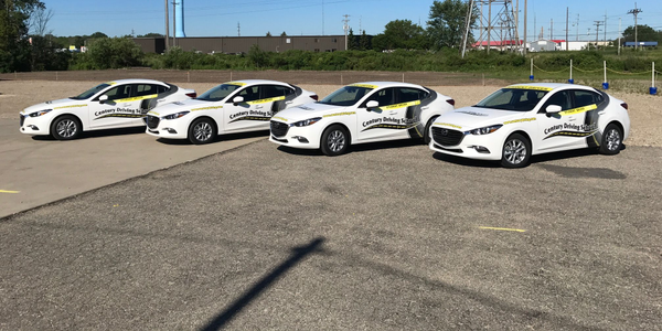 Century Driving Group's fleet includes Mazda3 sedans. Photo courtesy of Century Driving Group.