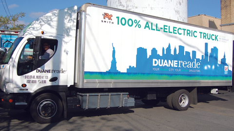 Photos courtesy of Duane Reade.Duane Reade's all-electric trucks are from Smith Electric. Duane...