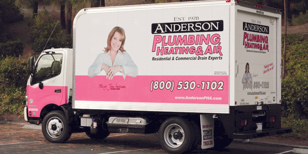 Anderson Plumbing, Heating & Air has added this diesel-electric hybrid Hino to its truck fleet,...