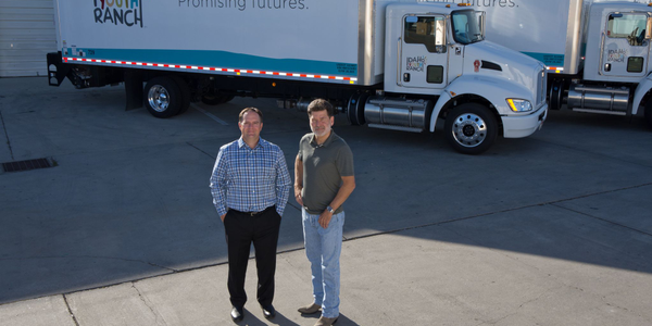 Jamie Schaefer (left), PacLease manager at Kenworth Sales Co., has worked with Idaho Youth Ranch...