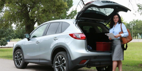 Jennifer Rivera, a salesperson for Organogenesis, drives the Mazda CX-5 as her work vehicle when...