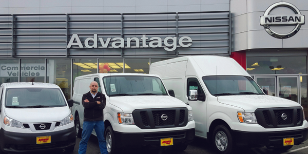 Luke Moore, the commercial account manager for Advantage Nissan in Bremerton, Wash., starts a...