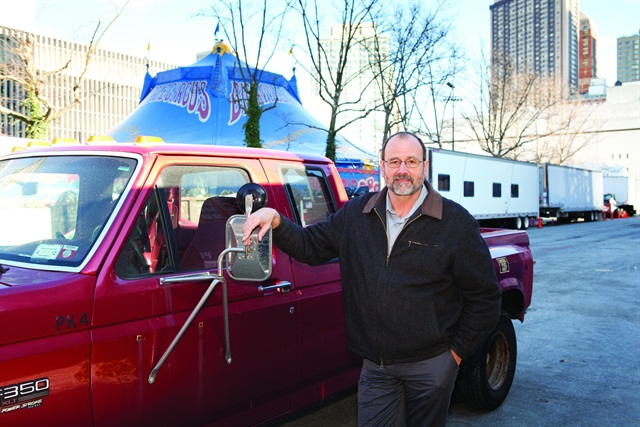 Tom Larson, general manager of New York's Big Apple Circus, plans to use technology to help his staff comply with the new ban on the use of held-held mobile devices while driving. Photo by Jason Rhee