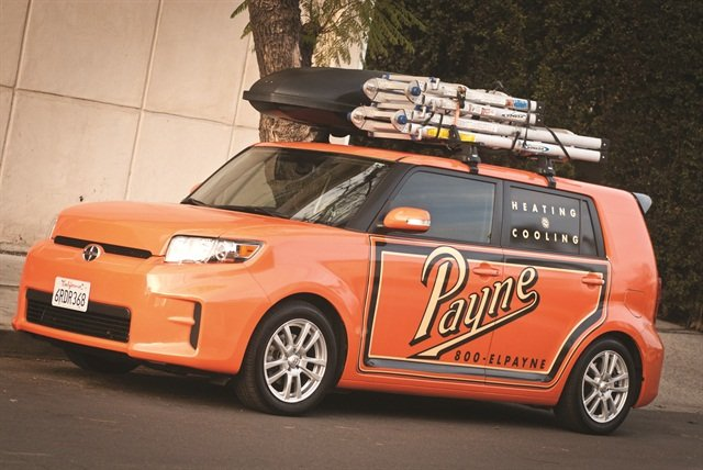 Payne decided to capitalize on the retro theme and got his brother, a graphic artist, to come up with an eye-catching design to complement the company's traditional color, Omaha Orange.