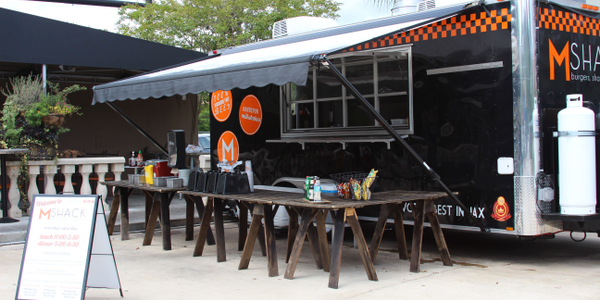 MShack's food trailer provides a mobile kitchen to cater at local events, including Jacksonville...