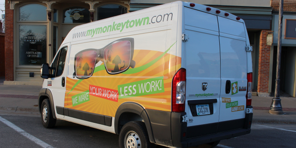 The Ram ProMaster cargo van provides more space for vehicle graphics, logos, and contact...