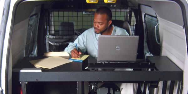 Leggett & Platt's engineers created a complete mobile office upfit for an insurance provider....