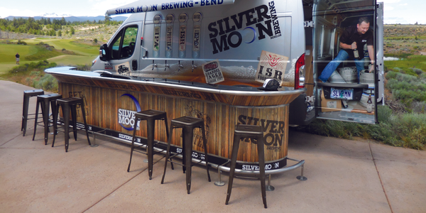 "Silver Moon Brewing created this ""pop-up pub"" to expand its marketing outside of its home base..."