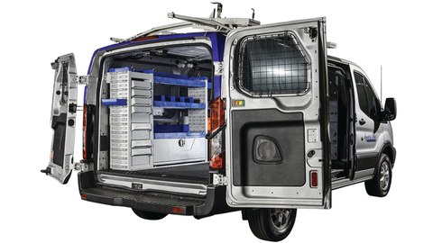 Masterack can design tailored upfit packages for a variety of vehicles. Photo courtesy of Masterack.