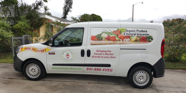 White Picket Produce uses Ram ProMaster City vans to delivery its fresh produce packages. Photo...