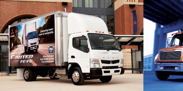The cabover (left) is gaining popularity in medium-duty truck fleets; however, the conventional...