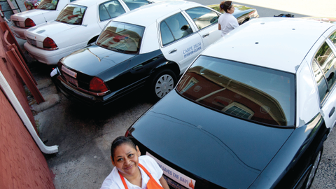 Carpe Diem Cleaning bought used police vehicles at auction to build its fleet for a more...