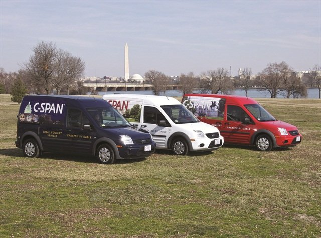 C-SPAN turns Ford Transit Connects into Local Content Vehicles (LCVs), the wheels driving a media project that captures stories of literary and historic significance from across the U.S.