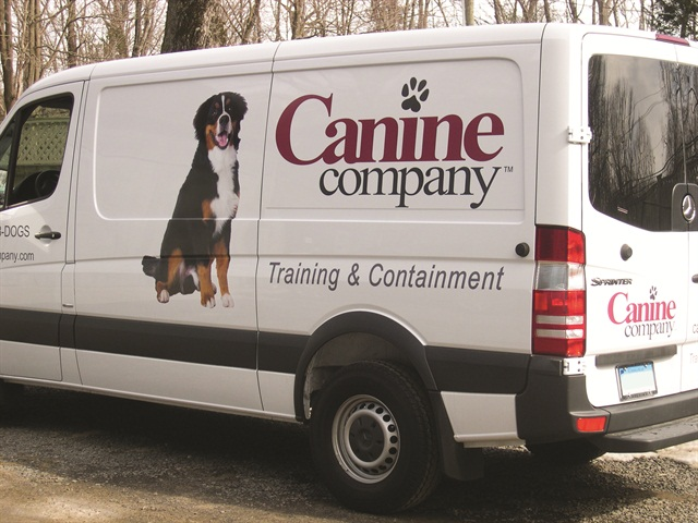 Canine Company went with vinyl decals instead of a full vinyl wrap on its fleet vehicles.
