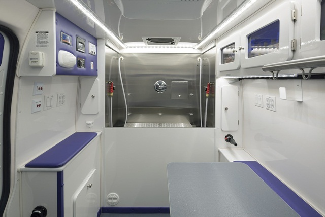 The interior of one of Wag'n Tails' customized vans. Photo courtesy of Wag'n Tails.