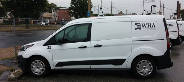 The Wilmington Housing Authority has received new Ford Transit Connect vans. Photo of Enterprise Holdings.