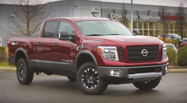 In addition to the Nissan NV and NV200 vans, Nissan's new dealer-based program will include the all-new 2016 Nissan Titan XD, available with either a gas or diesel powerplant. Photo courtesy of Nissan.