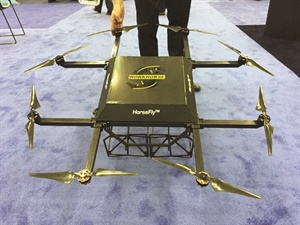 The HorseFly drone from Workhorse Custom Chassis delivers 10-lb. packages for 2 cents a mile.