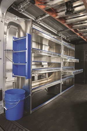 Masterack products include customized shelving, drawers, parts bins, partitions, and lockable doors and cabinets. Photo courtesy of Masterack.