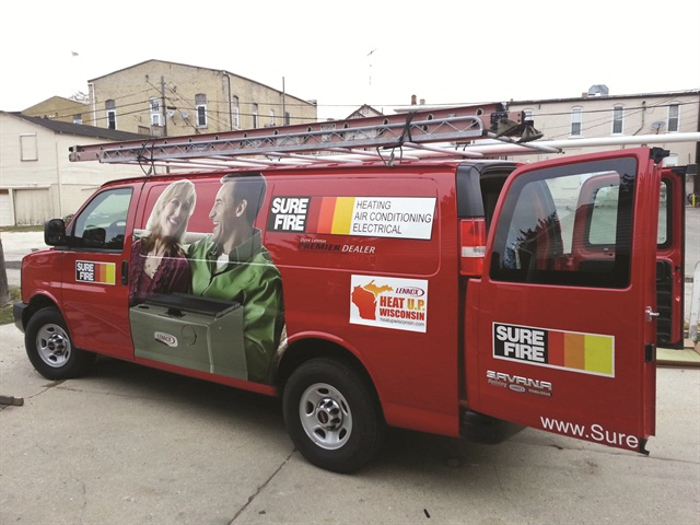 Expanding into commercial services and responding to emergency calls, Sure-Fire Inc. in Wisconsin has to be prepared with a full inventory in each vehicle. This added weight makes each driver's fuel efficiency a top priority.