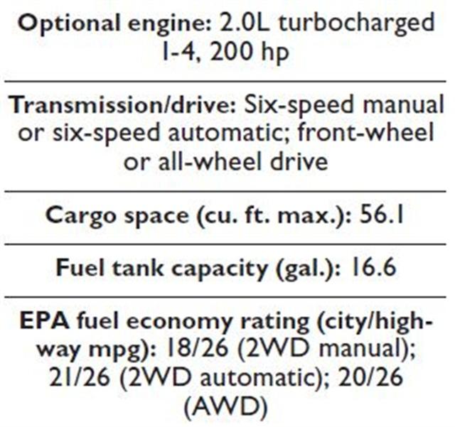 Specs for the 2014 Volkswagen Tiguan.