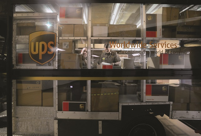 One UPS Integrad learning station features a truck with a clear plexiglas wall to allow instructors to coach proper package handling. Photo courtesy of UPS