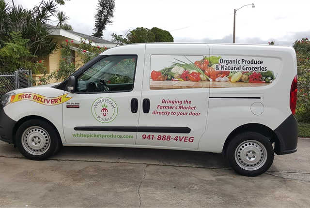 White Picket Produce uses Ram ProMaster City vans to delivery its fresh produce packages. Photo courtesy of Sharyn Vross.