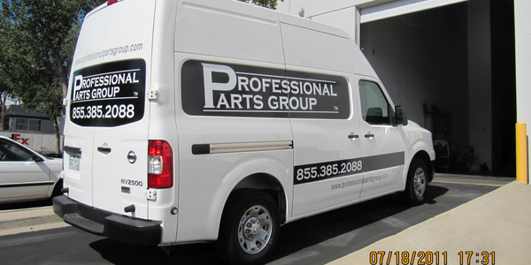 Professional Parts Grouphas a fleet made up of only Nissan cargo vans, including the NV2500.