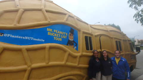 The West Coast team (Christine, Gabi, Matt) next to the Nutmobile. Photo by Amy Winter-Hercher.