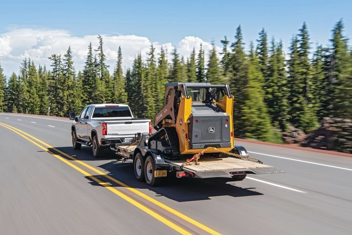 Towing heavy trailers and carrying heavy loads frequently are prime arguments for using a diesel, like the 6.6-liter Duramax in this Chevrolet Silverado 2500HD. But an updated Vortec 6600 gasoline V-8 can do most hauling jobs efficiently.   - Photo courtesy of General Motors.