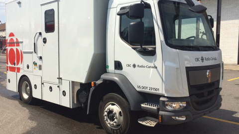 For covering local news, the CBC uses three Kenworths with custom-built mobile production units...