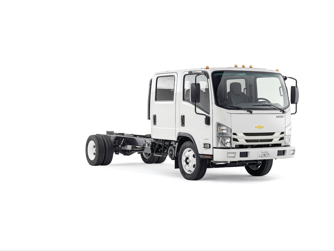 With greater visibility and a sharper turning radius, low cab forward (or cabover) models are ideal for urban driving. Chevrolet reentered the market in 2016. Chevrolet offers cabovers in Class 3-6 with regular and crew cab bodies, two diesel and one gas engine, and GVWRs up to 25,950 lbs. - Photo courtesy of General Motors.