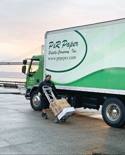 Armando Cardoza, a driver for P&R Supply Co. in the Bay Area, faces many challenges negotiating the narrow city streets and hills of San Francisco.   - Photo courtesy of P&R Supply Co.