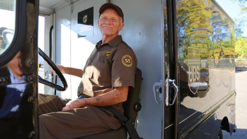In 2017, UPS package car driver Tom Camp was honored as the company's longest tenured safe...