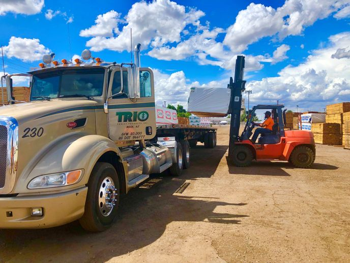 The video telematics system employed by Trio Forest Products, a wholesale lumber supplier, records both positive and negative driving events and scores them to make driver coaching easier. - Photo viaTrio Forest Products.